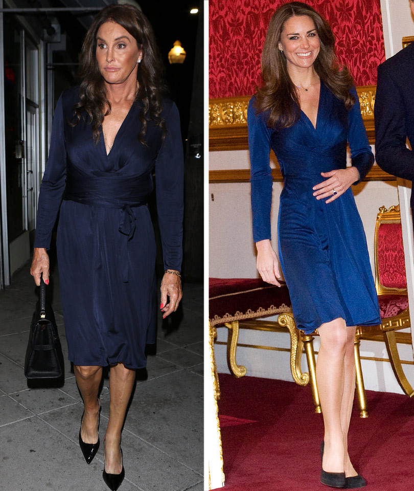 Caitlyn Jenner Rocks Kate Middleton's Iconic Blue Wrap Dress -- Who Wore It Better?!