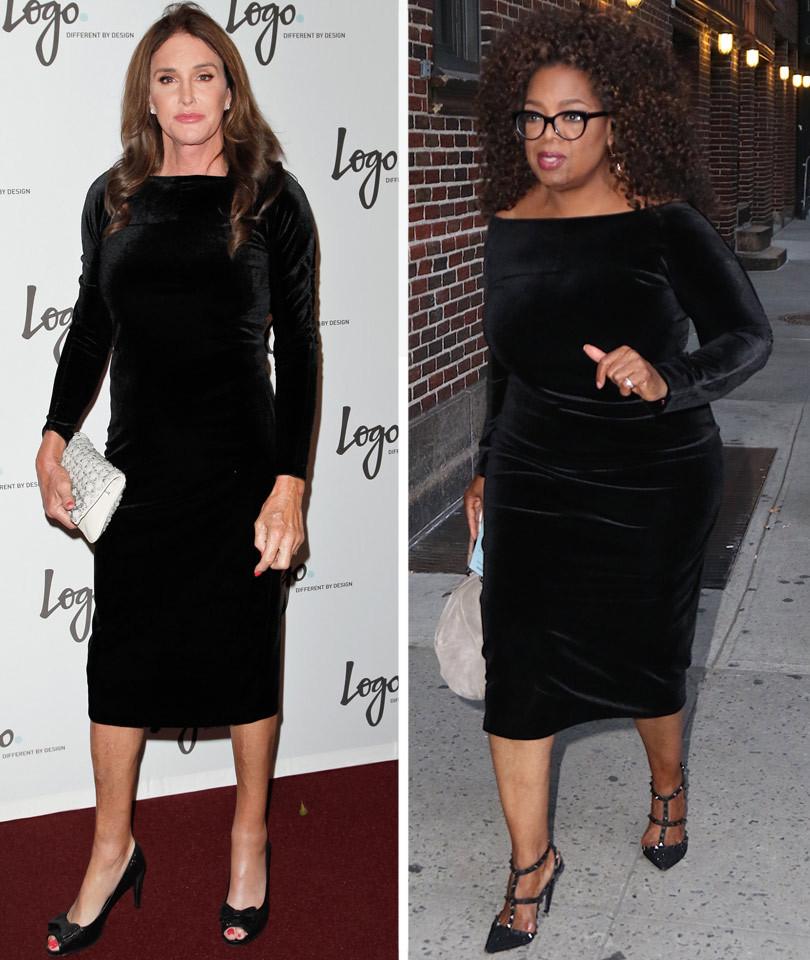 Caitlyn Jenner Steals Oprah Winfrey's Style in Black Velvet -- Who Wore It Better?!