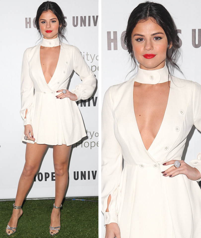 Selena Gomez Shows Serious Cleavage at the City of Hope Gala