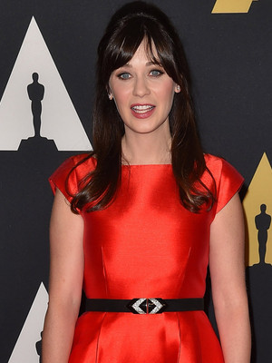 Zooey Deschanel cuddles up to Jacob Pechenik at Governors