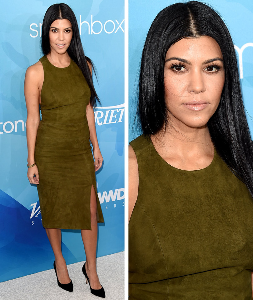 Kourtney Kardashian Shows Off Her Killer Curves, Gives Update On Khloe's Health
