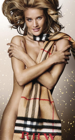 Rosie Huntington-Whiteley Goes Naked In Nothing But a Scarf in New Burberry Ad