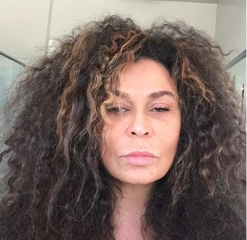 Tina Knowles Lawson Looks Flawless With No Makeup Messy