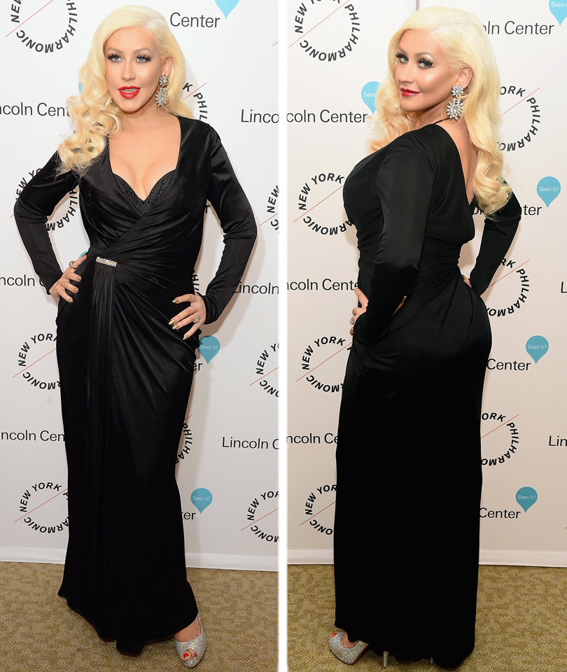 Christina Aguilera Shows Off Major Cleavage & Killer Curves at Sinatra Gala