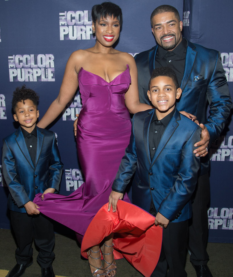 "Jennifer Hudson's Adorable Family Supports Her at Opening Night of  Broadway's ""The Color Purple"""