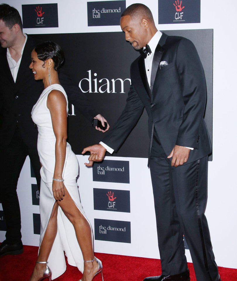 Will Smith Tries to Grab Jada's Booty at Rihanna's Diamond Ball!