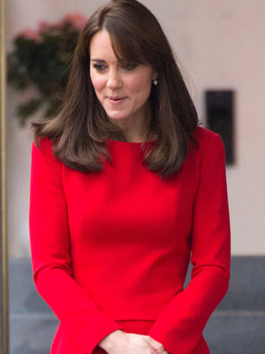 Kate Middleton Rocks Same Red Dress as Kim Kardashian -- Who Wore It Better?!