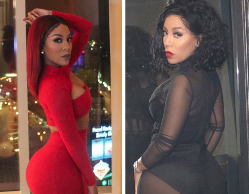 K. Michelle Debuts Smaller Booty -- Did She Remove Massive ... K Michelle Before And After Body
