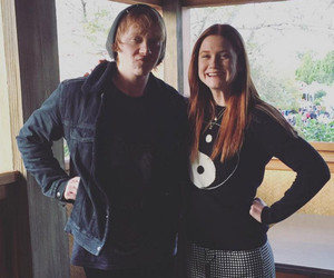 """Harry Potter"" Stars Rupert Grint & Bonnie Wright Have One Adorable Weasley Family Reunion"