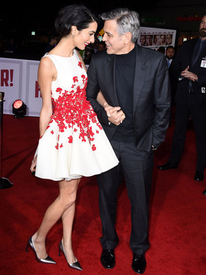 """George and Amal Clooney Look So In Love at the """"Hail, Caesar!"""" Premiere"""
