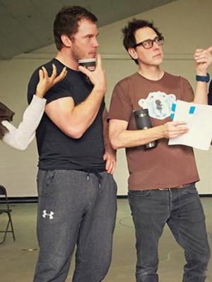 """Chris Pratt & Zoe Saldana Reunite """"Guardians of the Galaxy Vol. 2"""" Rehearsals"""