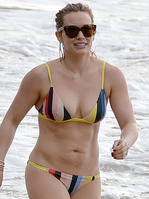 Hilary Duff Flaunts Flawless Beach Bod While On Vacation With Ex-Husband Mike Comrie!