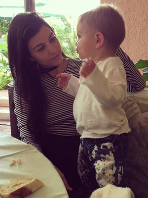"Kourtney Kardashian Has an Adorable ""Lunch Date"" With Son Reign -- He's So Big!"