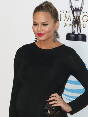 Chrissy Teigen Flaunts Growing Baby Bump at NAACP Image Awards