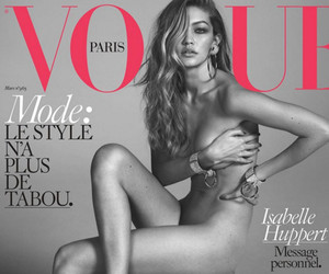 "Gigi Hadid Goes Completely Naked for Her First Vogue Paris Cover -- And Her Mom's ""So Proud"""