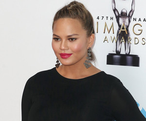 Chrissy Teigen Flaunts BIG Bare Baby Bump In Funny New Photo!