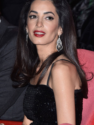 Jaw-Dropping! See Amal Clooney's Glam Red Carpet Appearance with George In Berlin