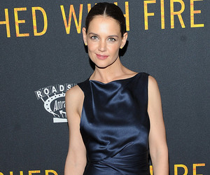 "Katie Holmes Is Perfection at ""Touched by Fire"" Premiere -- As Director Reveals Crazy Paparazzi Tale from Set!"
