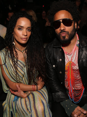 Lisa Bonet & Lenny Kravitz Reunite at Saint Laurent Event