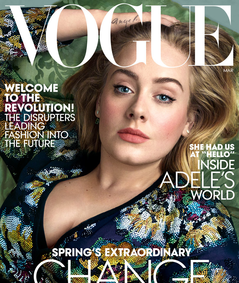 "Adele Looks Flawless on the Cover of Vogue -- Jokes Wearing Spanx Is Like ""Pumping a Sausage Bag Full of Meat!"""