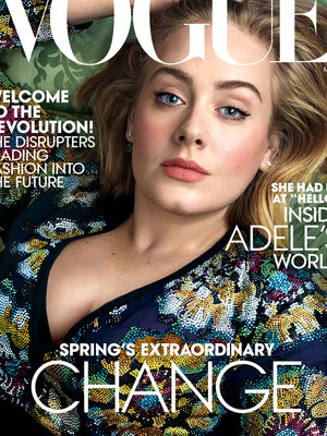 "Adele Looks Flawless on the Cover of Vogue -- Jokes Wearing Spanx Is Like ""Pumping a…"