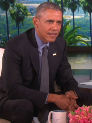 Michelle Obama Surprises the President with Valentine's Message on Ellen -- See His Cute…