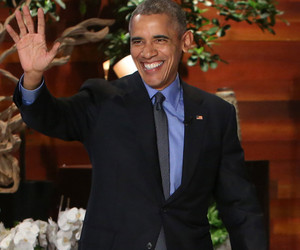 Michelle Obama Surprises the President with Valentine's Message on Ellen -- See His Cute Response!