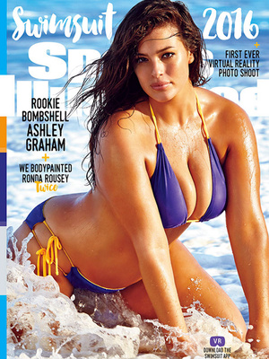 Ashley Graham Becomes First Plus-Sized Model to Cover Sports Illustrated Swimsuit Issue