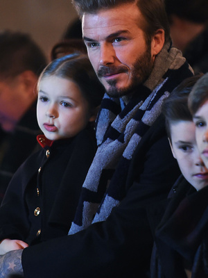 Harper, Cruz & Romeo Join David Beckham at Victoria's Runway Show