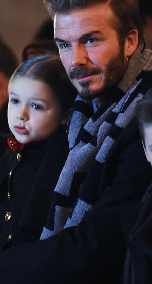 Harper, Cruz & Romeo Join David Beckham at Victoria's Runway Show