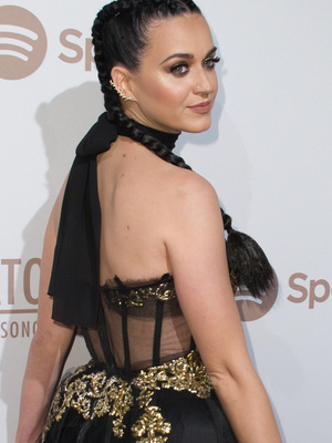 What Is She Wearing?! See Katy Perry's Wild Pre-Grammy Party Look