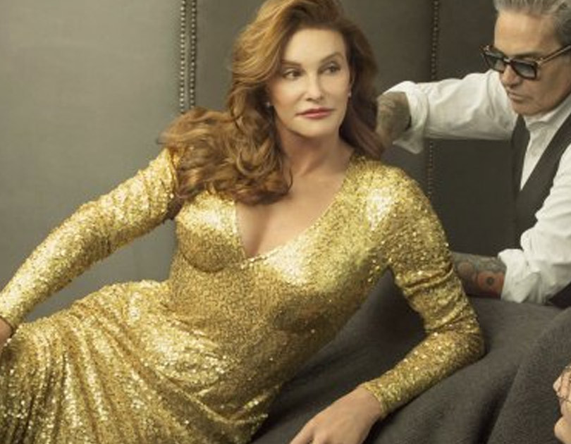 celebrity news caitlyn jenner models wedding dress