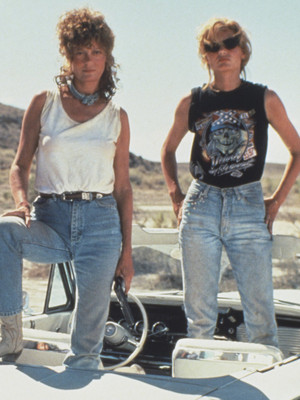"""""""Thelma & Louise"""" Reunite 25 Years Later -- as Susan Sarandon Says Her Character Probably """"Became a Lesbian"""""""