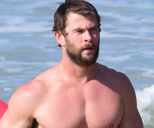 Chris Hemsworth Puts His Perfect Abs on Display While Surfing in Australia