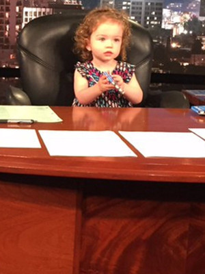 Jimmy Kimmel Brings Adorable Daughter Jane to Work -- See Her Steal the Spotlight!