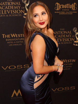 Adrienne Bailon Flaunts her Curves at the Emmys -- Is the Look Fab or Drab?