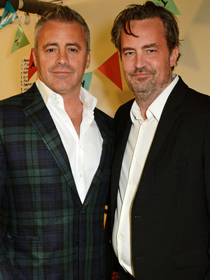 """Friends"" Reunion! Matt LeBlanc and Matthew Perry Catch Up in London"