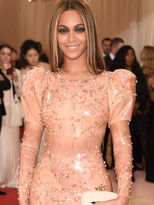 Beyonce Sports Pale Pink Latex to the Met Gala -- Like the Look?!