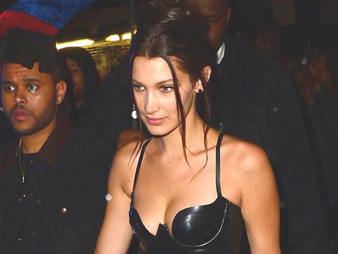 Bella Hadid Wears the Same Black Latex Dress as Kim Kardashian -- Who Wore It Better?!