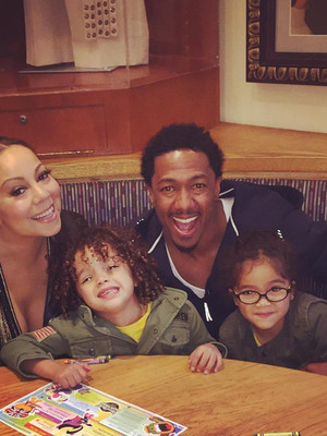 Mariah Carey & Nick Cannon Reunite With Their Twins for Pre-Mother's Day Dinner