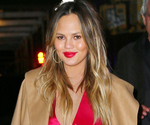 Chrissy Teigen Shows Off Red Hot Post-Baby Bod on Date Night With John Legend