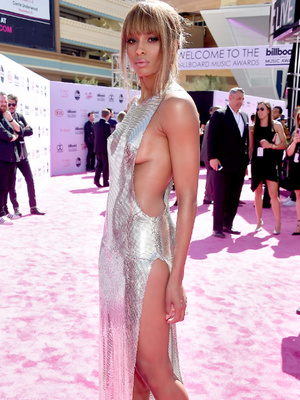 That's A Dress! Ciara Shows Major Side Boob In Barely-There Silver Gown at Billboard…