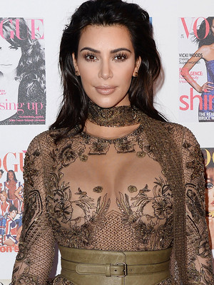 Kim Kardashian Nearly Bares All at the Vogue 100 Festival in London