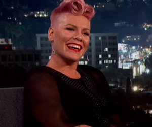 "P!nk Totally Loses Her Cool Meeting ""Crush"" Johnny Depp on ""Jimmy Kimmel"" -- See The Video!"