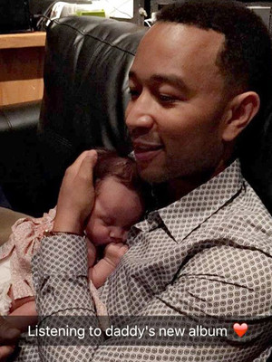 John Legend & Chrissy Teigen's Baby Girl Loves Listening to Her Daddy's Music