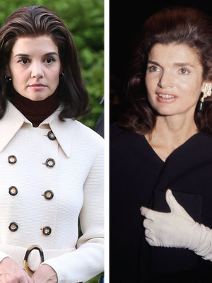 Katie Holmes Looks Strikingly Similar to Jackie Kennedy on Set of Upcoming Miniseries