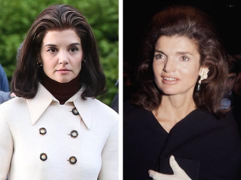 Katie Holmes Looks Strikingly Similar to Jackie Kennedy on Set of Upcoming Miniseries