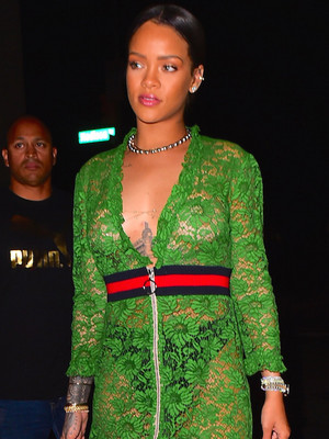 Rihanna Rocks Same See-Through Gucci Dress as Julia Roberts -- Who Wore It Better?!
