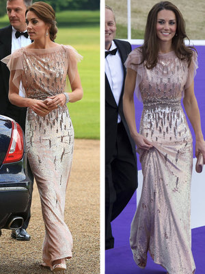 Kate Middleton Recycles Gorgeous Jenny Packham Gown