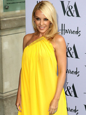 Kylie Minogue Sports Same Yellow Dress as Taylor Schilling -- Who Wore It Better?!
